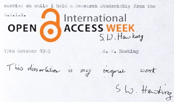Stephen Hawking allows free access to his 1966 doctoral thesis